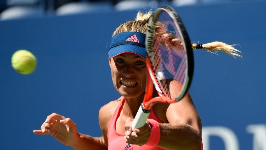 Angelique Kerberlors du match contre Polona Hercog à l'US Open le 29 août 2016 à New York
