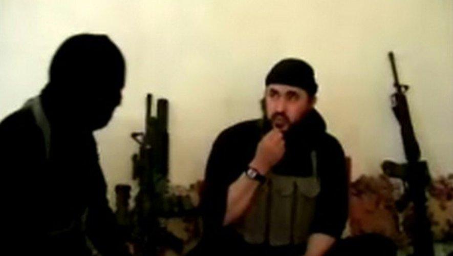 L'ancien chef d'Al-Qaïda en Irak Abou Moussab al-Zarqaoui sur une  Capture d'écran d'une vidéo publiée le 4 mai 2006 sur le site internet du département américain de la Défense