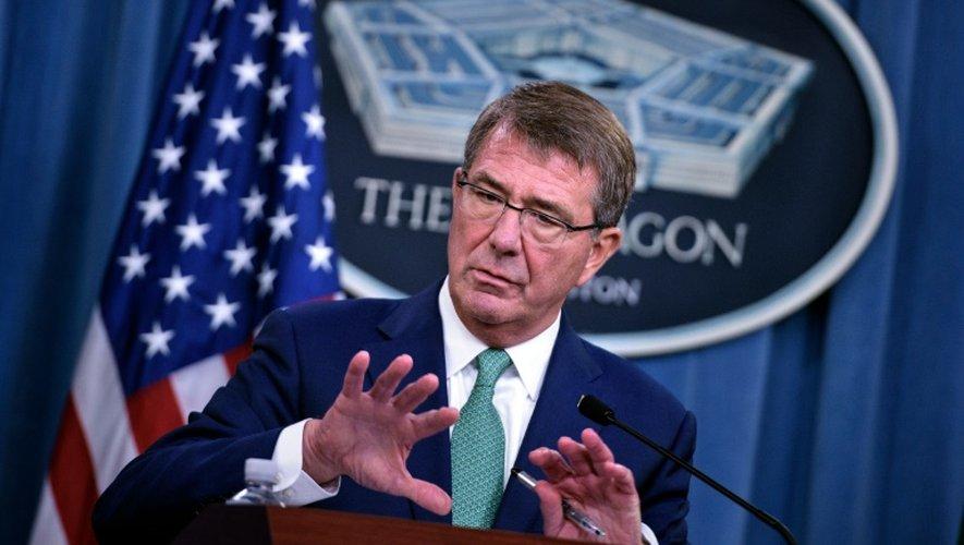 Le secrétaire américain à la Défense Ashton Carter au Pentagone à Washington le 29 août 2016