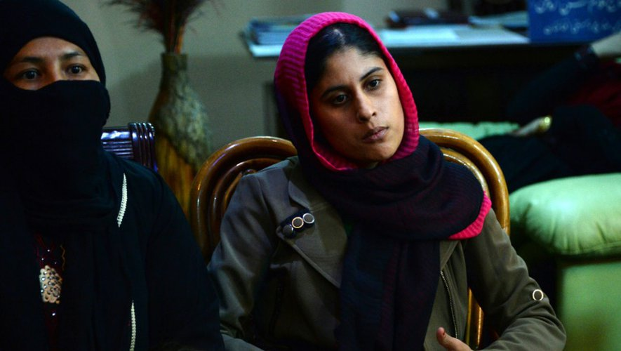 Une étudiante de l'université de Kunduz, réfugiée à kaboul, le 10 octobre 2015