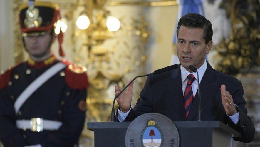 Le président du Mexique Enrique Pena Nieto le 29 juillet 2016 à Buenos Aires