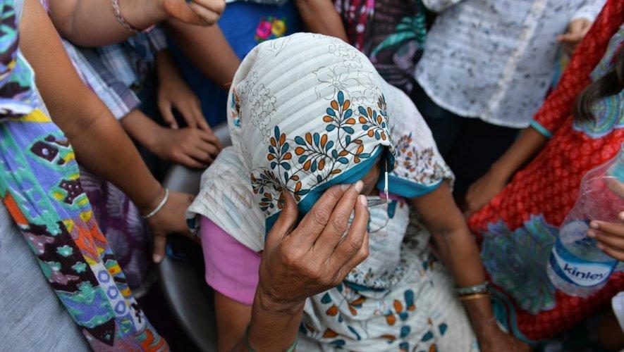 La grand-mère d'une enfant violée le 17 octobre 2015 à New Delhi