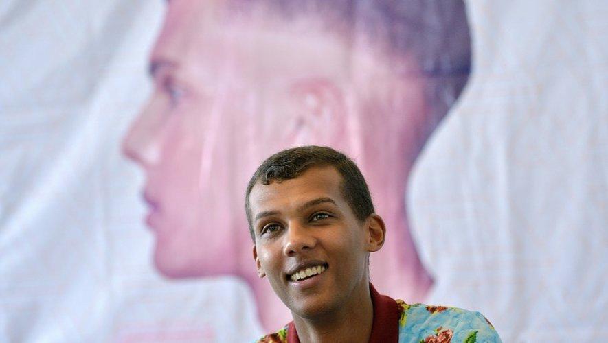Le chanteur belge Paul Van Haver alias Stromae le 17 octobre 2015 à Kigali