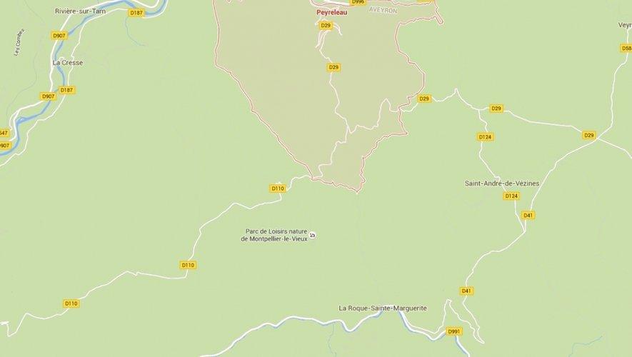 Le drame s'est produit entre Peyreleau et La Roque-Saint-Marguerite.