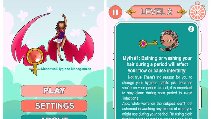 Capture d'écran du jeu vidéo, qui prodigue aussi des conseils d'hygiène