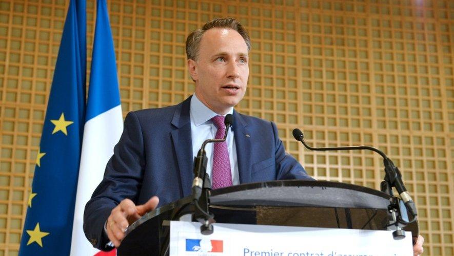 Thomas Buberl au ministère de l'Economie à Paris le 5 juillet 2016