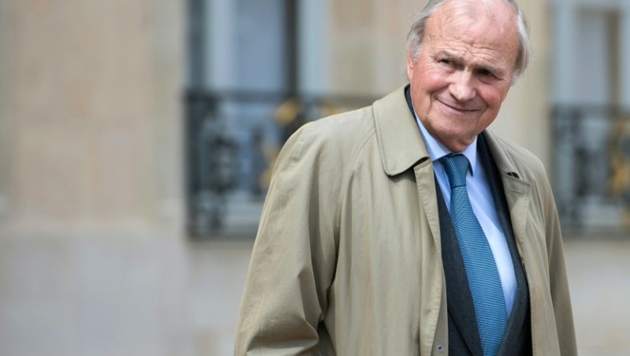 L'ancien président d'Axa Claude Bébéar à l'Elysée le 15 avril 2013
