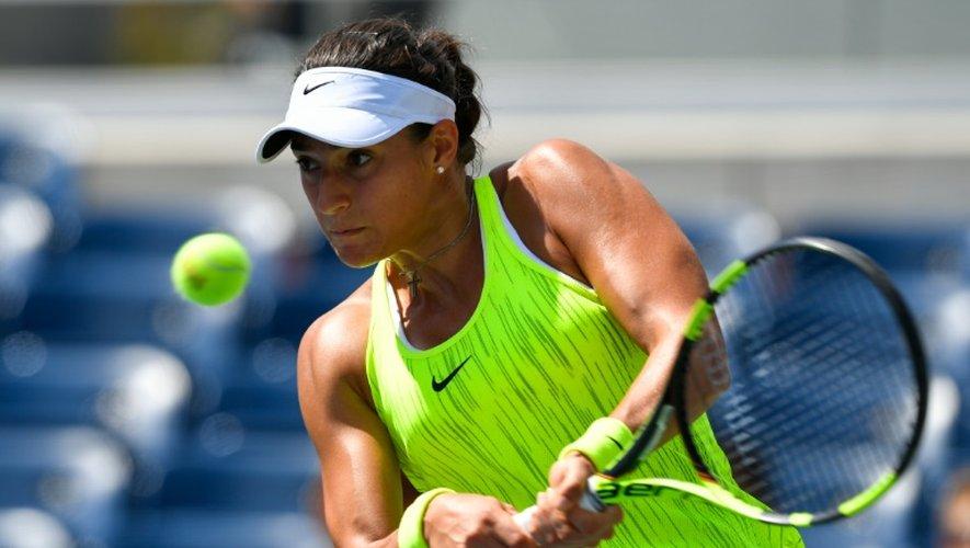 Caroline Garcia, le 30 août 2016 à New York lors de son premier match à l'US Open fae à sa compatriote Pauline Parmentier