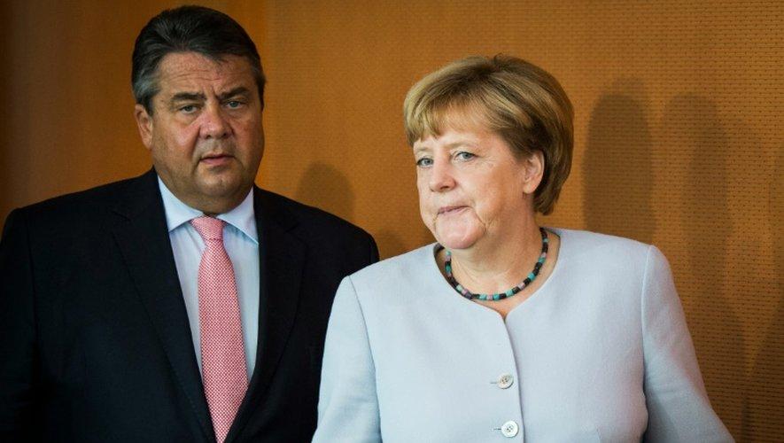 Angela Merkel et Sigmar Gabriel, le 31 août 2016 à Berlin