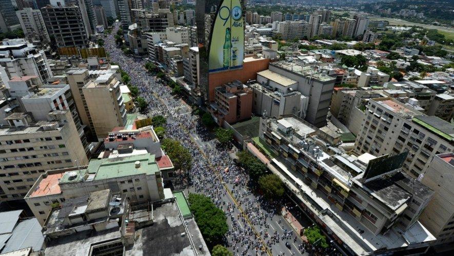 Rassemblement de l'opposition pour réclamer un référendum révocatoire contre le président Maduro, le 1er septembre 2016 à Caracas