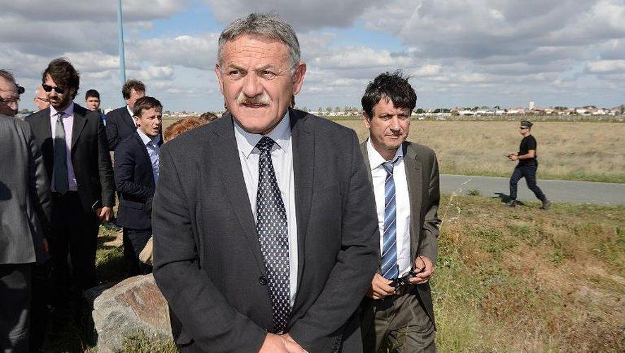 René Marratier, l'ancien maire de la Faute-sur-Mer, et son avocat Didier Seban, le 25 septembre 2014 à La Faute-sur-Mer