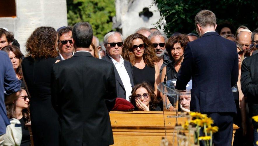 Obsèques de la styliste Sonia Rykiel, le 1er septembre 2016 à Paris