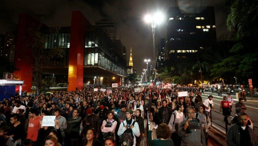 Manifestation en faveur de l'ancienne présidente Dilma Rousseff, à Sao Paulo, le 1er septembre 2016