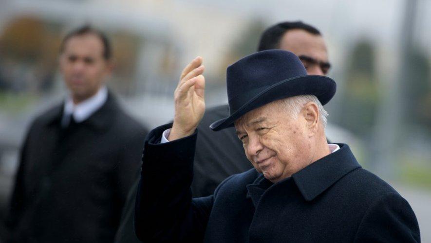 Le président ouzbek Islam Karimov à Samarcande, le 1er novembre 2015