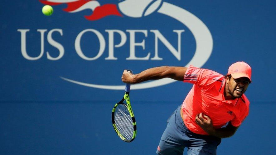 La joie de Jo-Wilfried Tsonga, face à Kevin Anderson au 3e tour de l'US Open, le 2 septembre 2016