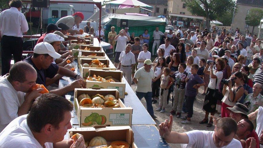 La fête du melon -et son concours du plus gros mangeur- attend des milliers de visiteurs dimanche après-midi.