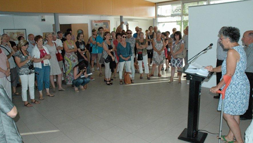 Inauguration hier soir du festival à Rieupeyroux.