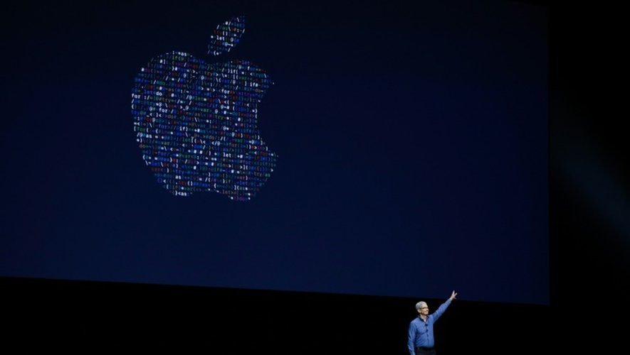 Le patron d'Apple Tim Cook à San Francisco, aux Etats-Unis, le 13 juin 2016