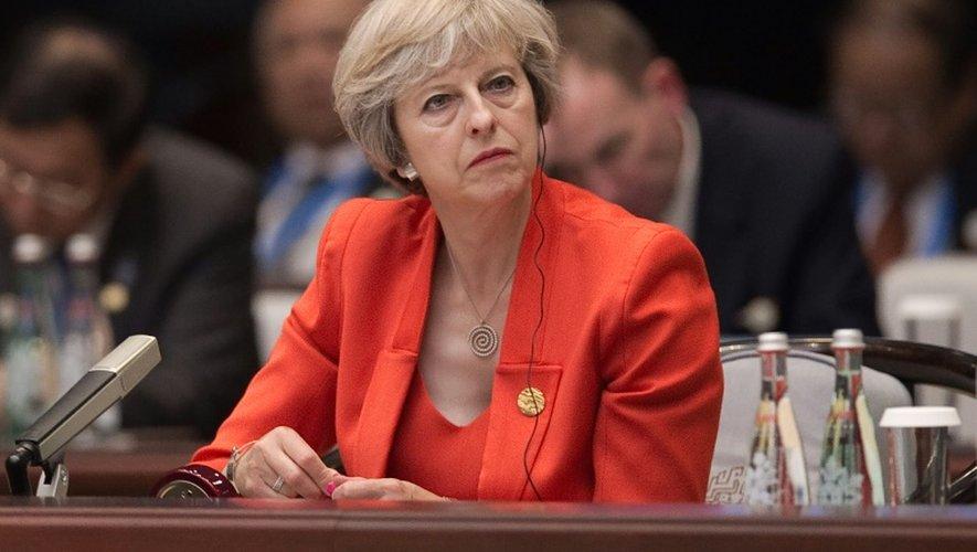 La Première ministre britannique Theresa May, le 4 septembre 2016 à Hangzhou