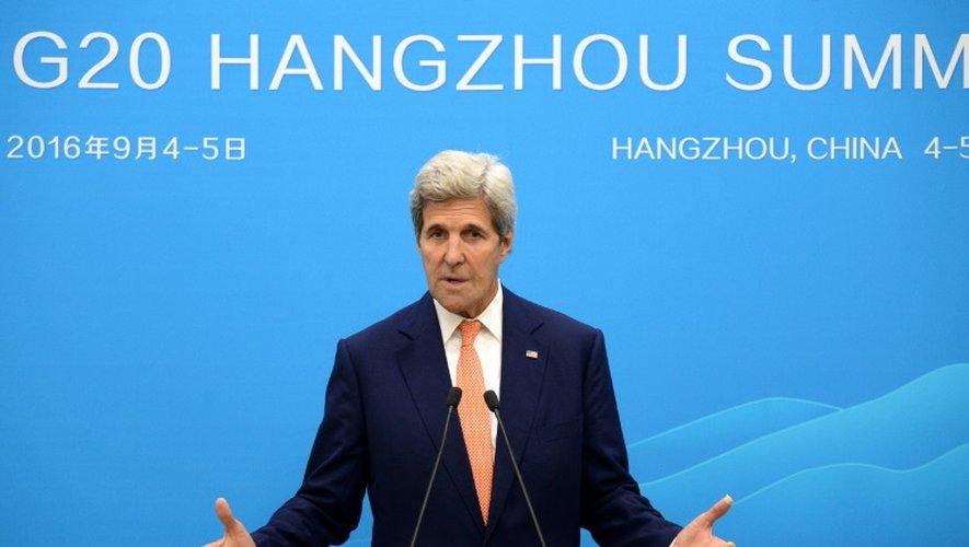 Le chef de la diplomatie américaine John Kerry au sommet du G20 à Hangzhou, le 4 septembre 2016