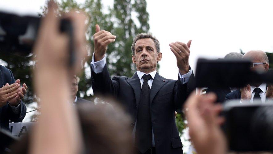 Le candidat à la primaire de la droite, Nicolas Sarkozy, le 4 septembre 2016 à La Baule