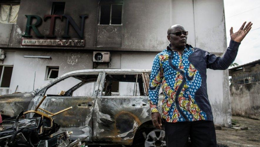 Le PDG de Radio-Télévision Nazareth (RTN), le pasteur Georges Bruno Ngoussi, le 4 septembre 2016 à Libreville