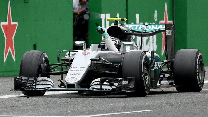 Nico Rosberg célèbre sa victoire au GP d'Italie, le 4 septembre 2016 à Monza