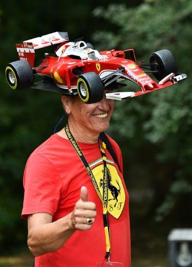 Un supporter de Ferrari, le 3 septembre 2016 à Monza