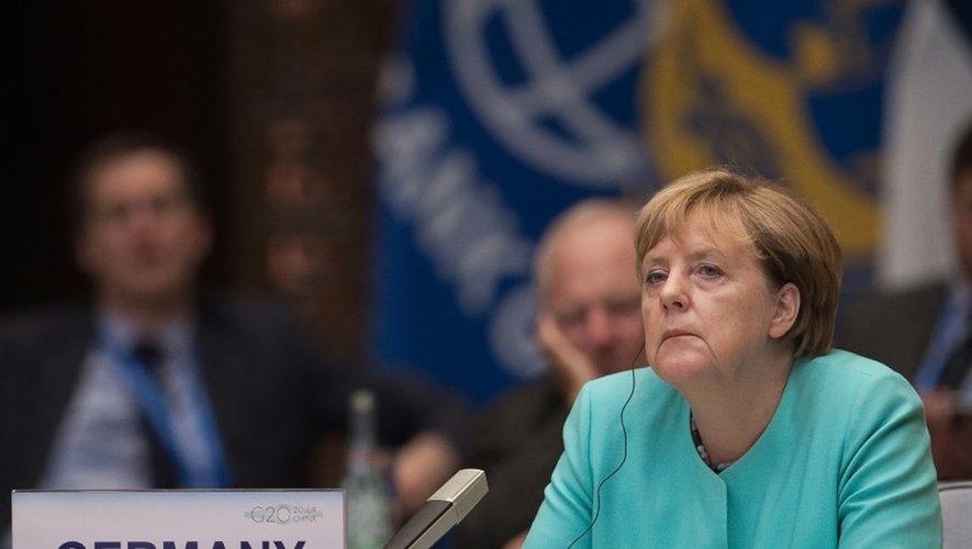La Chancelière allemande Angela Merkel, lors du sommet du G20, le 4 septembre 2016 à Hangzhou, en Chine