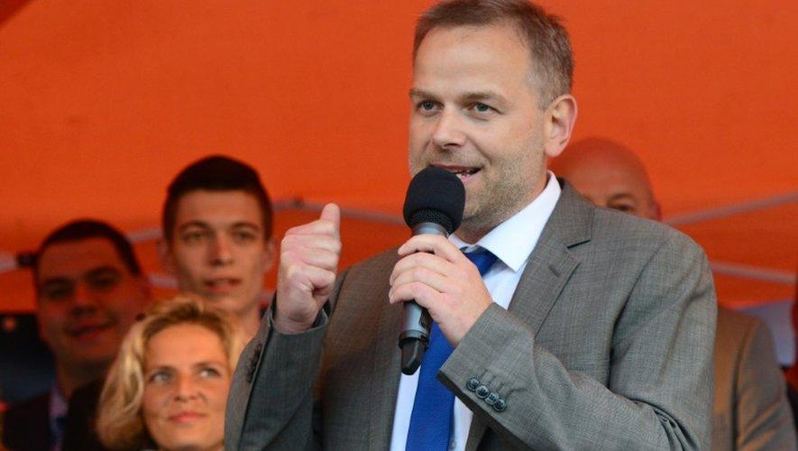 Leif-Erik Holm, chef de file du parti populiste AfD  dans le Mecklembourg, le 4 septembre 2016 à Schwerin en Allemagne