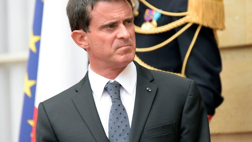 Le Premier ministre  Manuel Valls le 5 septembre 2016 à Matignon à Paris