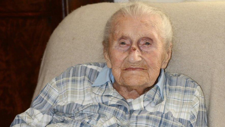 Elisabeth Collot, 113 ans, le 4 juillet 2016 à Echirolles près de Grenoble