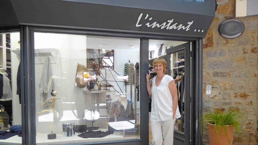 Béatrice Cayla est originaire d'Espalion, où elle tient la boutique, Grain de Sel.