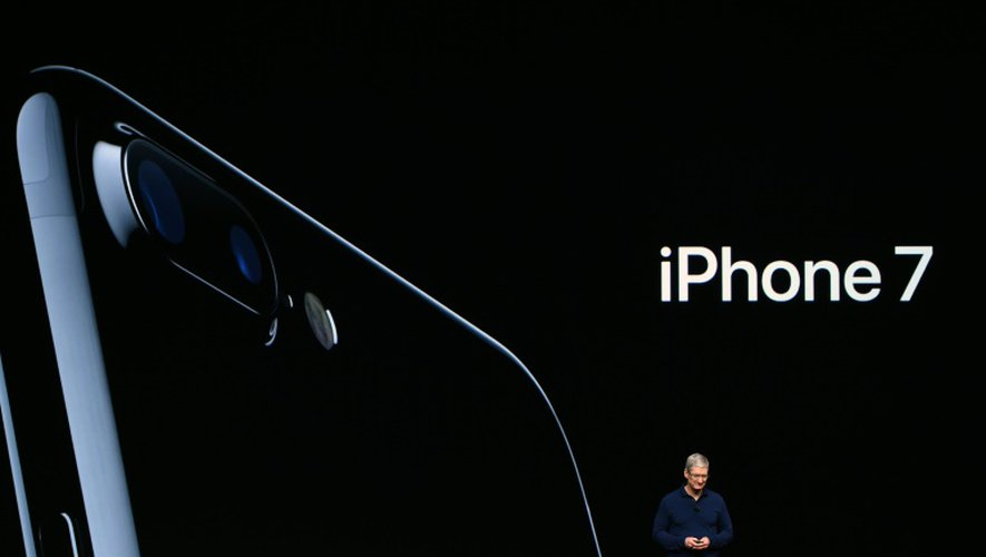 Le patron d'Apple Tim Cook, le 7 septembre 2016 à San Francisco