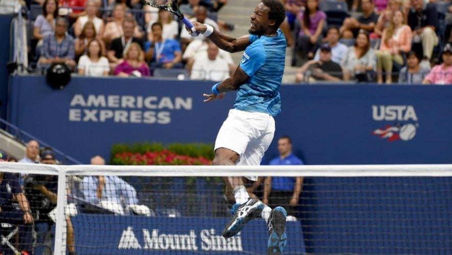 Gaël Monfils face à Lucas Pouille en quarts de finale de l'US Open, le 6 septembre 2016 à New York