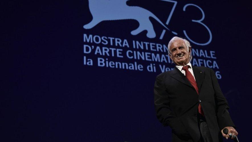 L'acteur français Jean-Paul Belmondo à la Mostra de Venise, le 8 septembre 2016
