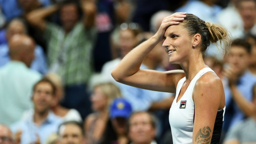 Karolina Pliskova lors du match l'opposant à Serena Williams le 8 septembre 2016 à l'Open US de tennis à Nw York