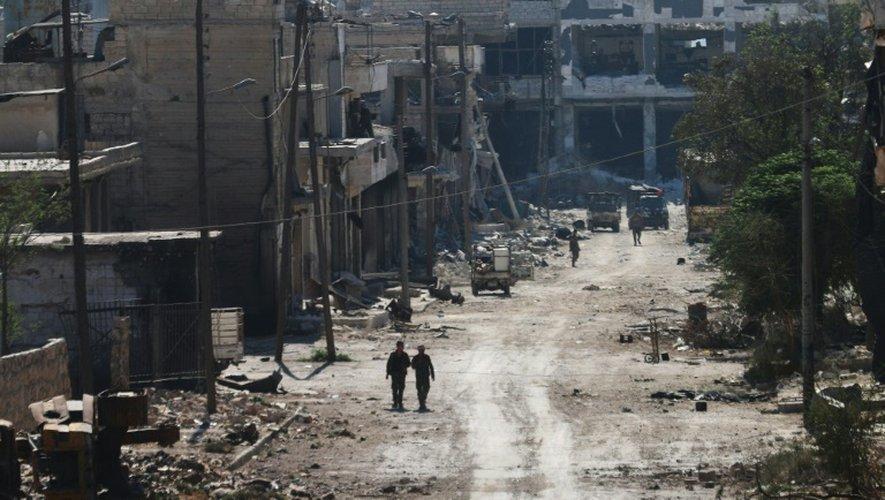 Des soldats pro-régime à Alep, en Syrie, le 9 septembre 2016