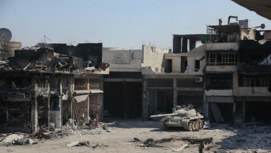 Des ruines dans la partie rebelle d'Alep, ville syrienne soumise à un nouveau siège par la régime, le 9 septembre 2016