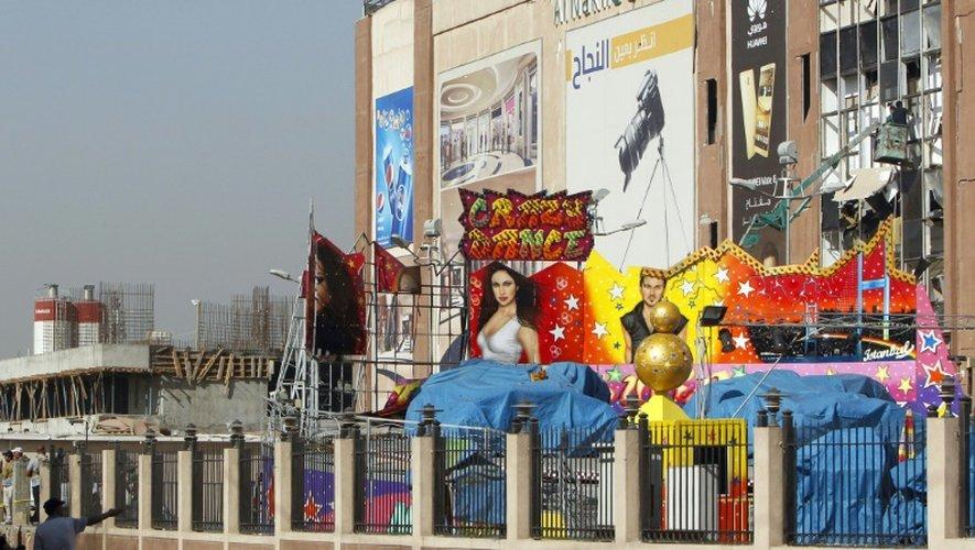 Le centre commercial al-Nakheel après l'explosion de deux voitures, le 10 septembre 2016 à Bagdad