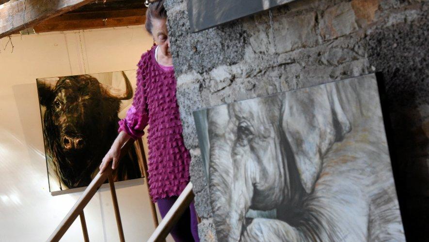 Hester Van Wijngaarden présente, actuellement, ses toiles à l'espace de La Menuiserie.