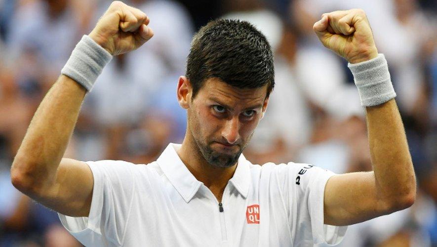 Novak Djokovic à l'issue de sa victoire sur Gaël Monfils en demi-finale de l'US Open, le 9 septembre 2016