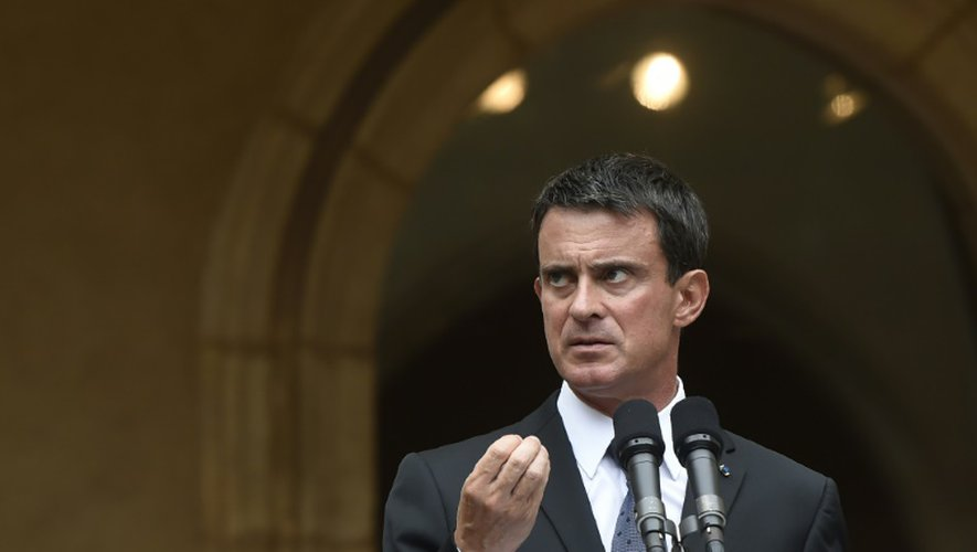 Le Premier ministre Manuel Valls à Bourg-en-Bresse, le 5 septembre 2016