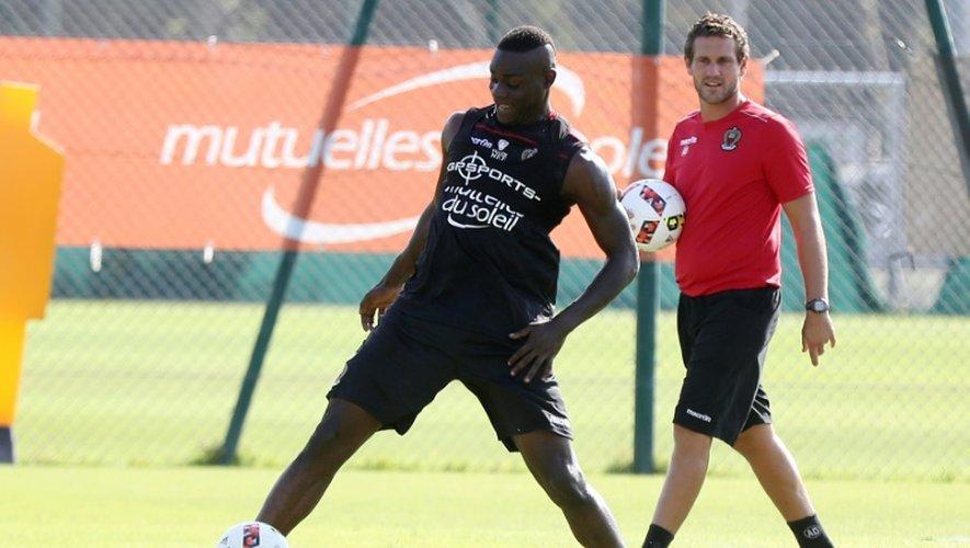 L'attaquant star de l'OGC Nice Mario Balotelli lors d'une séance d'entraînement, le 1er septembre 2016 à Nice