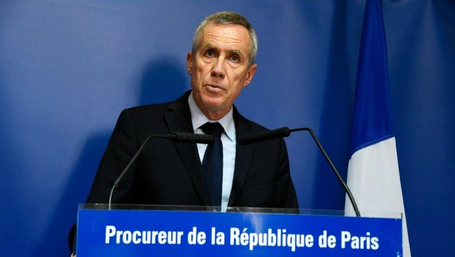 Le procureur de la République de Paris François Molins lors d'un point presse à Paris le 9 septembre 2016