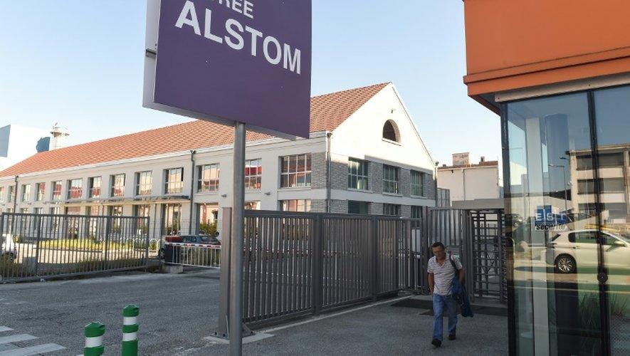 L'entrée de l'usine Alstom de Belfort, le 7 septembre 2016