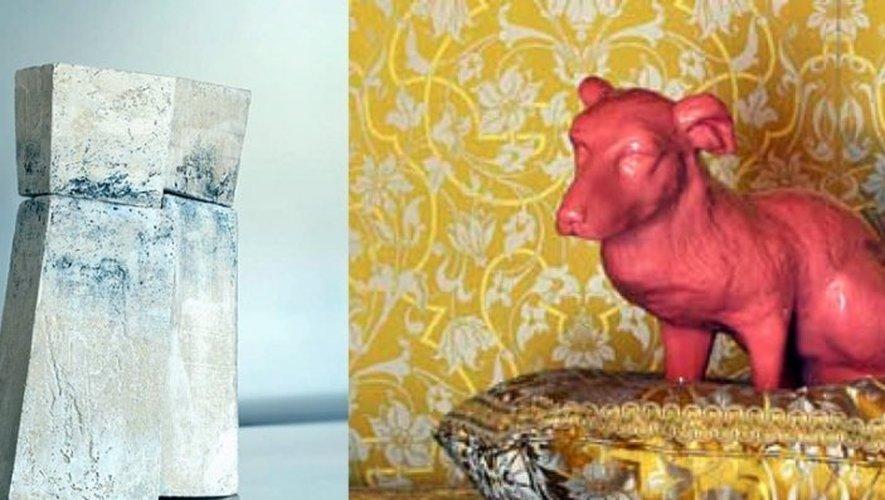 Michaële-Andréa Schatt proposera une installation consacrée à la figure animalière avec des chiens, des oiseaux, des lièvres...