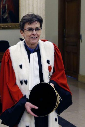 Catherine Champrenault, procureure générale de Paris, le 15 janvier 2016 au palais de justice de Paris