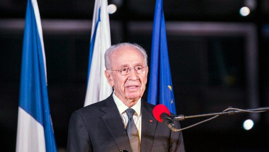 Shimon Peres, le 14 novembre 2015 à Tel Aviv