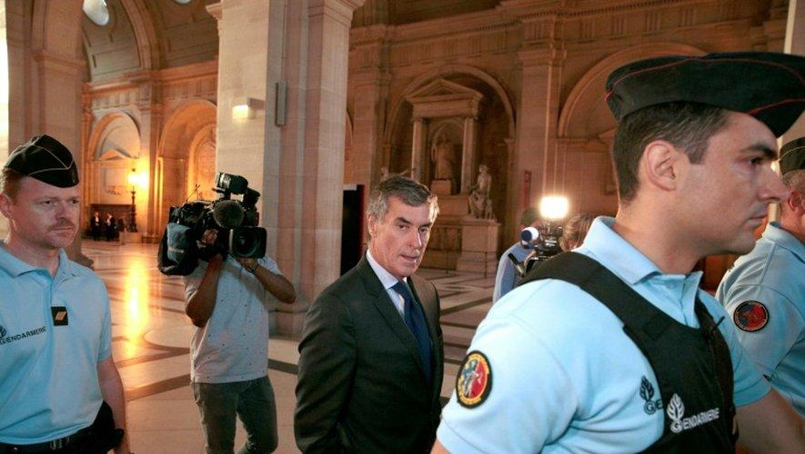 Jérôme Cahuzac à son arrivée au palais de justice le 14 septembre 2016 à Paris